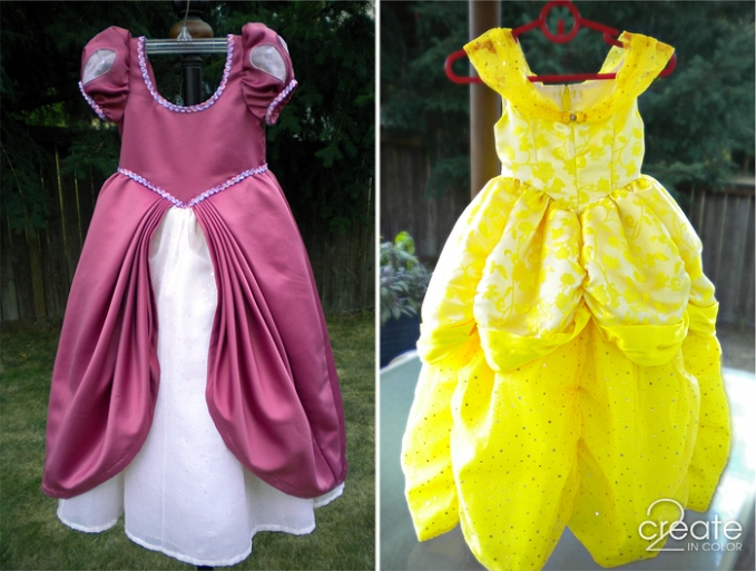 Disney Princess Dresses: Finished » 2Create in Color