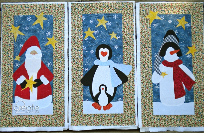 Weekend WIP: A Trio of Christmas Quilt Wall Hangings » 2Create in ... : christmas quilt wall hanging - Adamdwight.com
