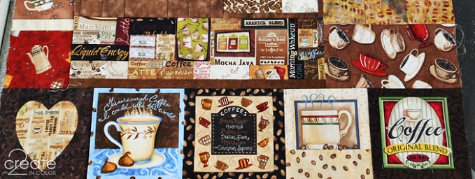 part of my lonely coffee quilt top
