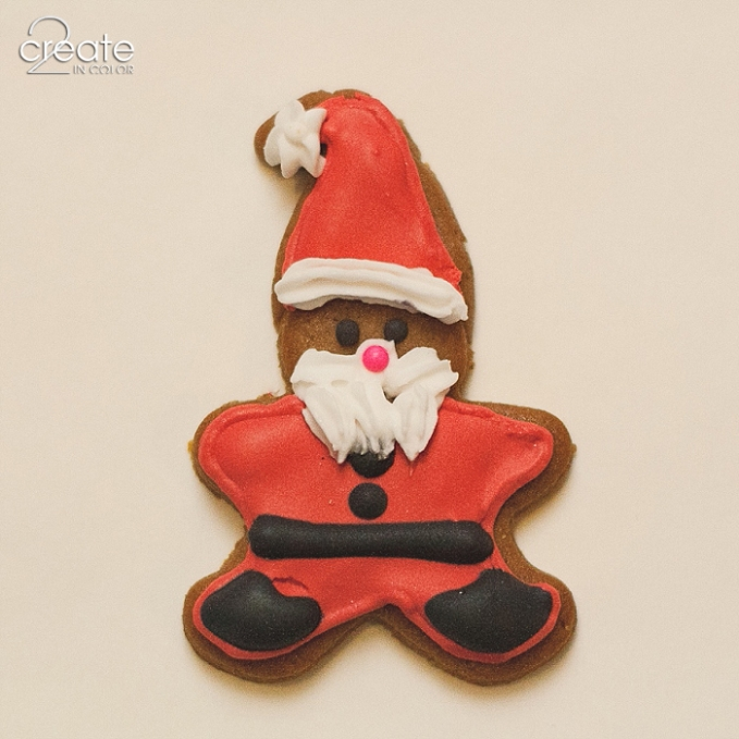 Gingerbread-Accent mini-Santa