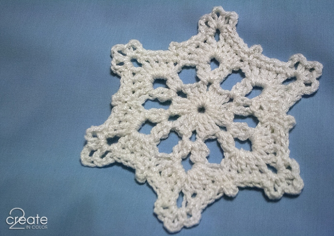 Let it snow! Crocheted hot (landing) pad