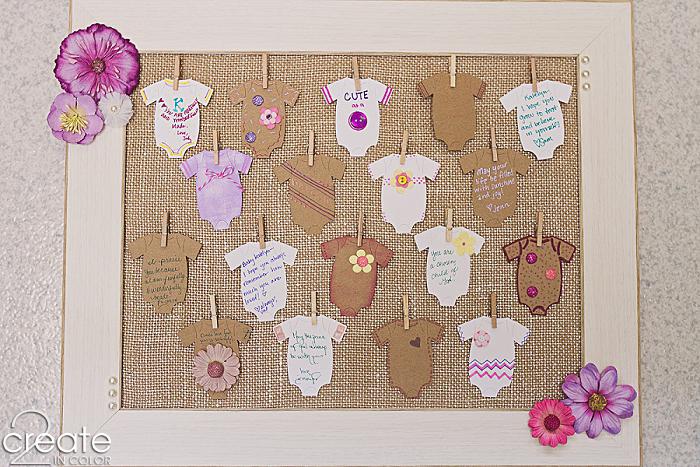 Baby Shower Wish Frame » 2Create in Color