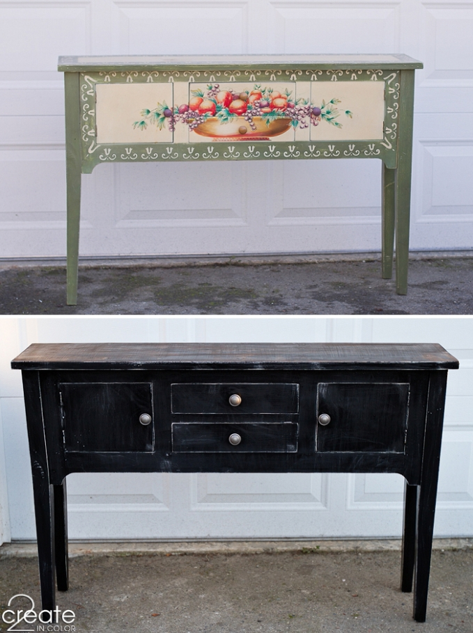 Sideboard, before and after