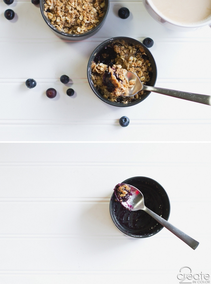 Blueberry Crisp for Breakfast | 2Create in Color