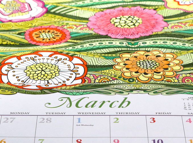Calendar Coloring Feb Mar-2
